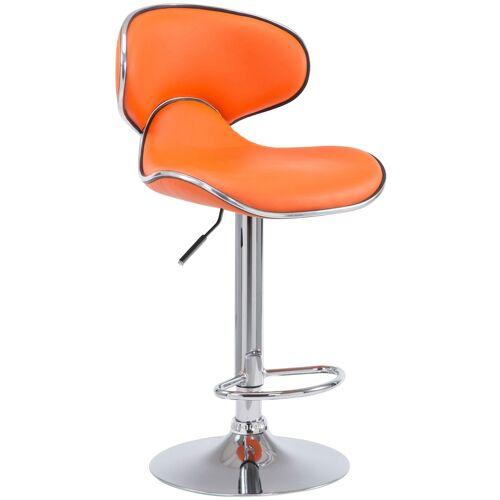 CLP Barhocker Las Vegas V2-orange-Chrom