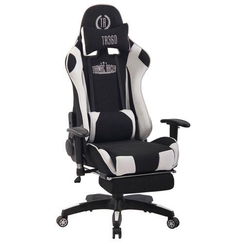CLP Bürostuhl Turbo XFM Stoff mit Massagefunktion-schwarz/weiß