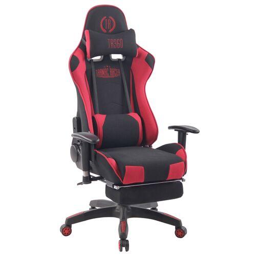 CLP Bürostuhl Turbo XFM Stoff mit Massagefunktion-schwarz/rot