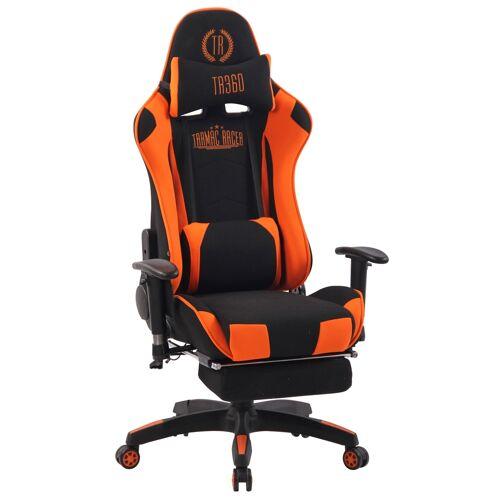 CLP Bürostuhl Turbo XFM Stoff mit Massagefunktion-schwarz/orange
