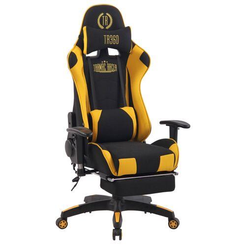 CLP Bürostuhl Turbo XFM Stoff mit Massagefunktion-schwarz/gelb