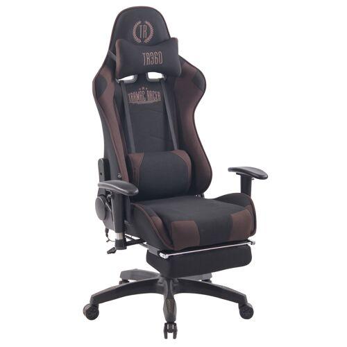 CLP Bürostuhl Turbo XFM Stoff mit Massagefunktion-schwarz/braun