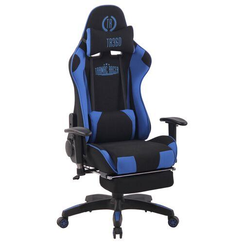 CLP Bürostuhl Turbo XFM Stoff mit Massagefunktion-schwarz/blau