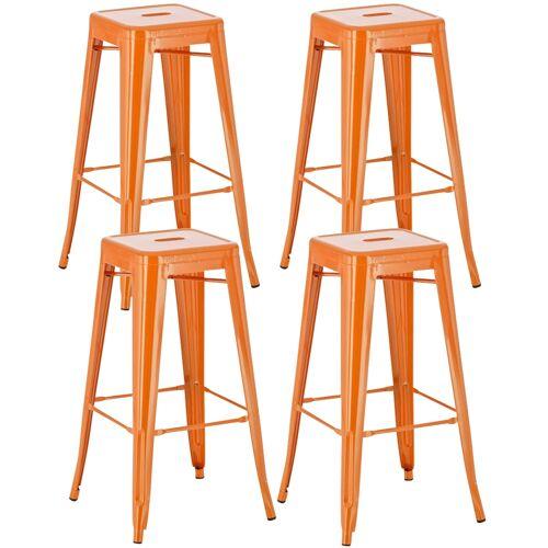 CLP 4er Set Barhocker Joshua-orange