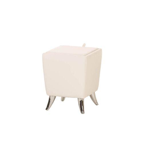 CLP Sitzhocker Roxy-weiß