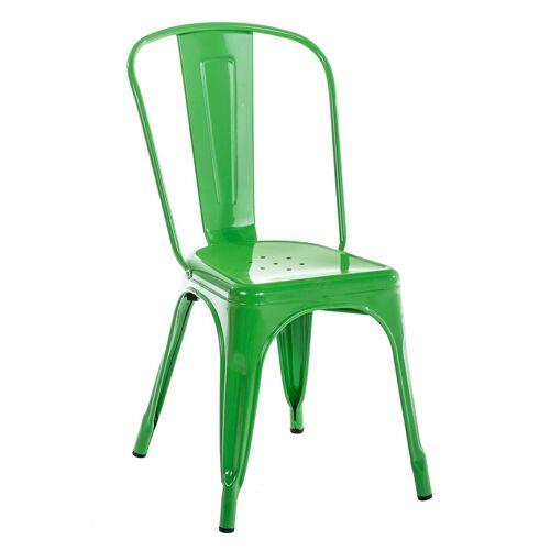 CLP Stapelbarer Metall Stuhl Benedikt-grün