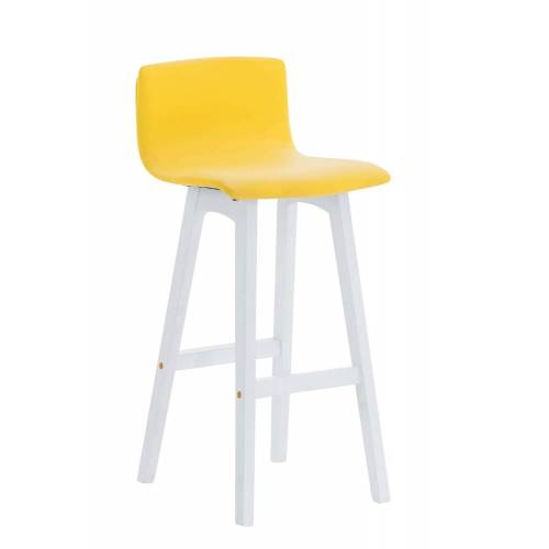 CLP Barhocker Taunus Kunstleder-gelb-Weiß