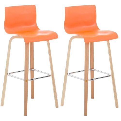 CLP 2er Set Barhocker Malone-orange