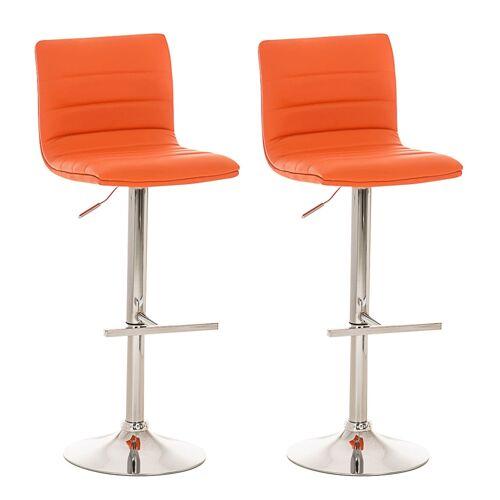CLP 2er Set Barhocker Valenzia-orange