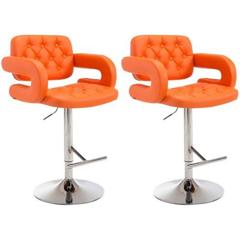 CLP 2er Set Barhocker Dublin-orange