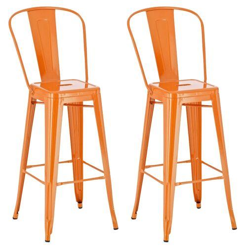CLP 2er Set Barhocker Aiden-orange