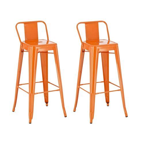 CLP 2er Set Barhocker Mason-orange