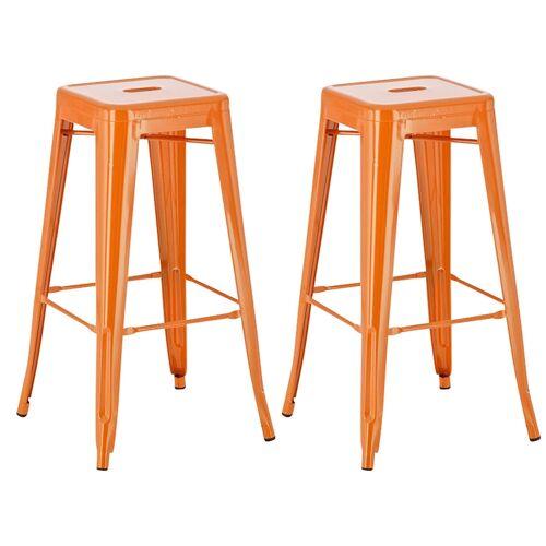 CLP 2er Set Barhocker Joshua-orange
