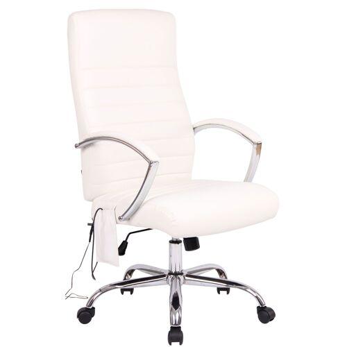 CLP Bürostuhl Valais mit Massagefunktion-weiß-Kunstleder