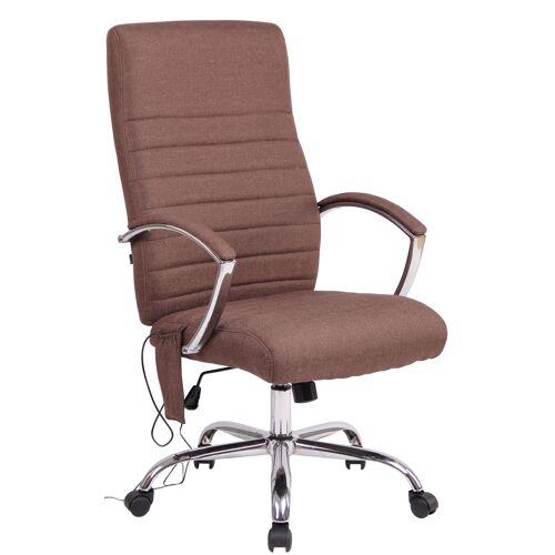 CLP Bürostuhl Valais mit Massagefunktion-braun-Stoff