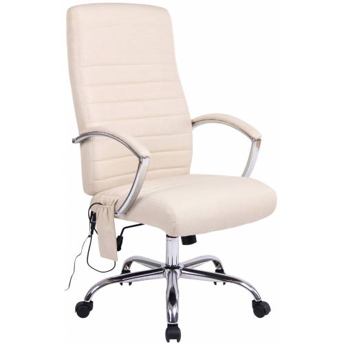CLP Bürostuhl Valais mit Massagefunktion-creme-Stoff