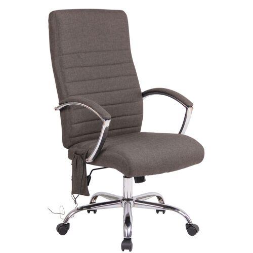 CLP Bürostuhl Valais mit Massagefunktion-dunkelgrau-Stoff