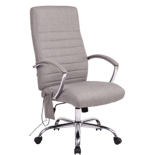 CLP Bürostuhl Valais mit Massagefunktion-grau-Stoff
