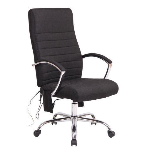 CLP Bürostuhl Valais mit Massagefunktion-schwarz-Stoff