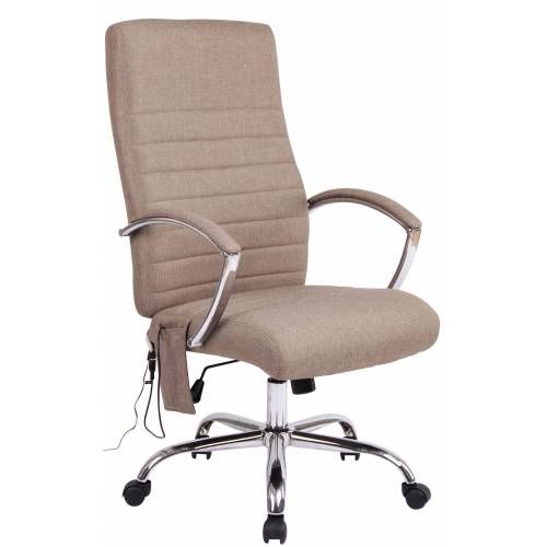 CLP Bürostuhl Valais mit Massagefunktion-taupe-Stoff