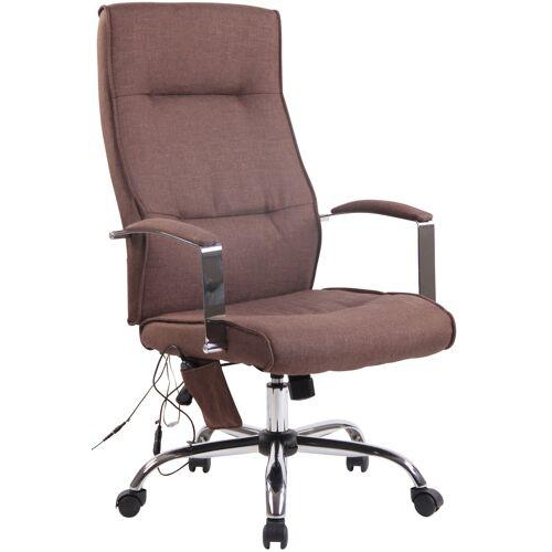 CLP Bürostuhl Portland mit Massagefunktion-braun-Stoff