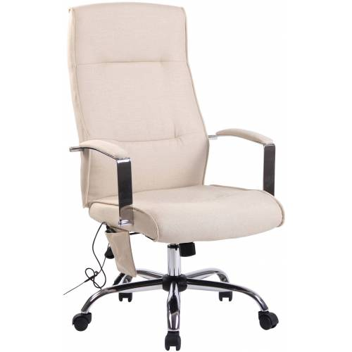 CLP Bürostuhl Portland mit Massagefunktion-creme-Stoff