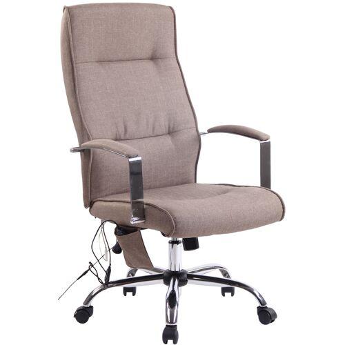 CLP Bürostuhl Portland mit Massagefunktion-taupe-Stoff