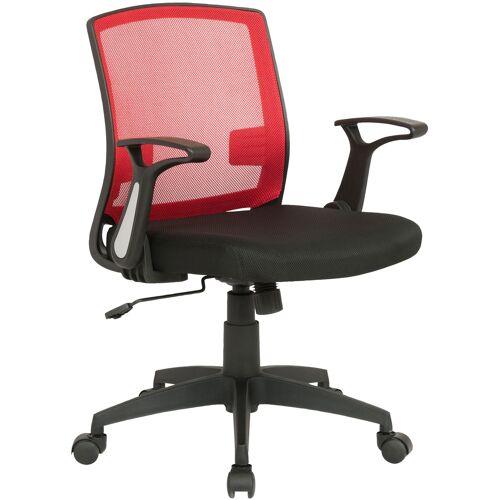 CLP Bürostuhl Renton-schwarz/rot