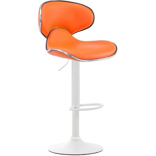 CLP Barhocker Las Vegas V2-orange-Weiß