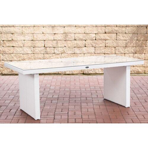 CLP Polyrattan Tisch Avignon-weiß/flach-200 cm
