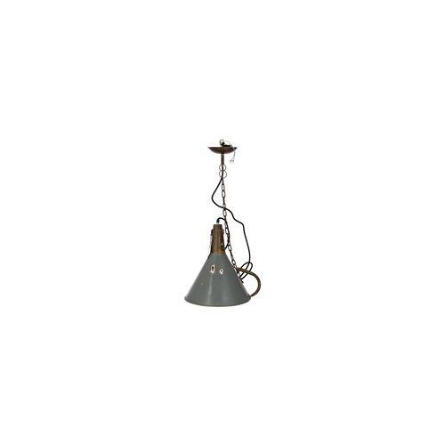 Trademark Living Hängelampe Deckenlampe Trichter Upcycling grau