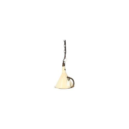 Trademark Living Hängelampe Deckenlampe Trichter Upcycling weiß