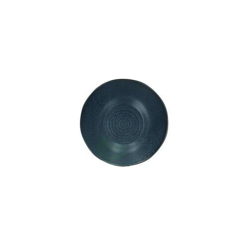 Bloomingville Aura Suppenteller Teller tief 22 cm Steingut blau