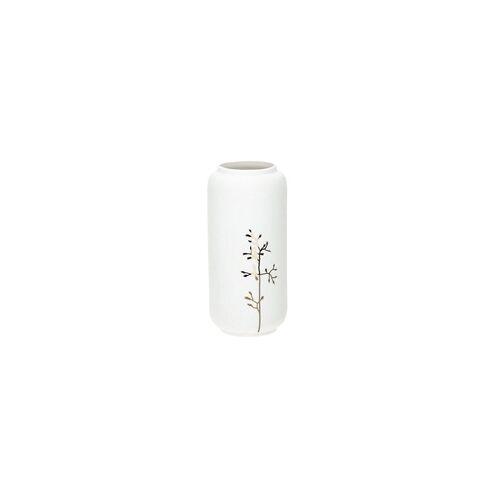 räder Living Vase Goldzweig 21,5 cm Porzellan weiß gold