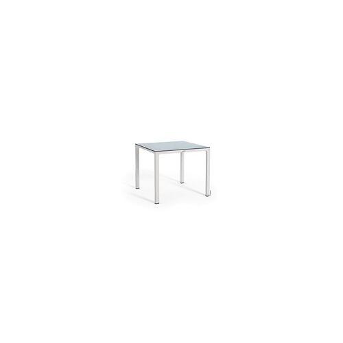 Lechuza Garten Esstisch weiß, 90 x 90 cm, HPL-Tischplatte