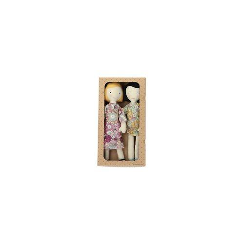 Bloomingville Puppe Puppenmädchen 2er Set mehrfarbig