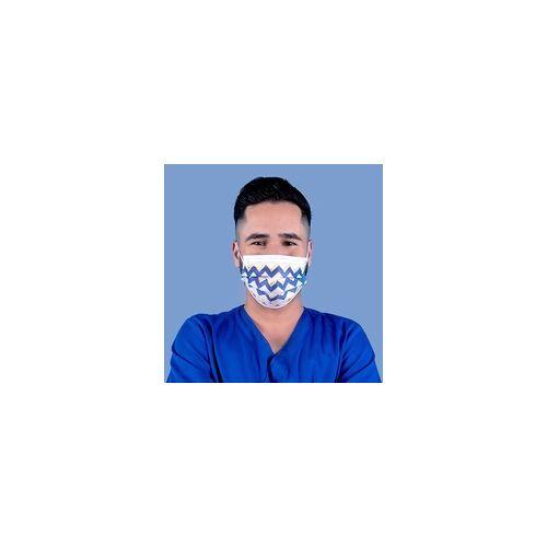 wellsamed wellsamask medizinischer Mundschutz CE EN14683 Zick-Zack 50 Stück