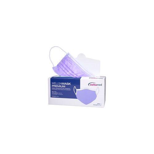 wellsamed wellsamask medizinischer Mundschutz CE EN14683 lila 50 Stück
