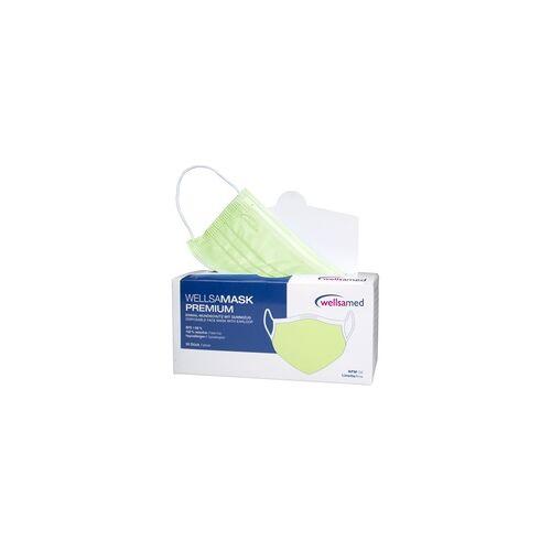 wellsamed wellsamask medizinischer Mundschutz CE EN14683 lime 50 Stück