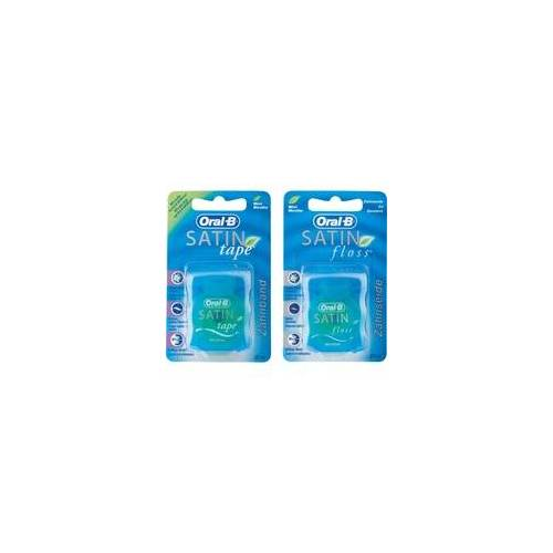 Oral B Oral-B SATIN floss + SATIN tape Set Zahnseide Mint 25 m