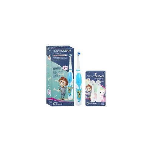 wellsamed FunnyClean Batterie-Zahnbürste SPAR-Set 1 Boys