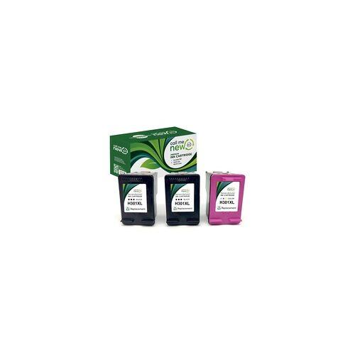 HP 3x REMAN DRUCKER PATRONE für HP 301 XL DeskJet 1000 1110 2130 Envy 4500 5530