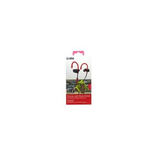 SBS Wireless Runway Kopfhörer kabellos Ohrhörer Fitness Funkkopfhörer rot