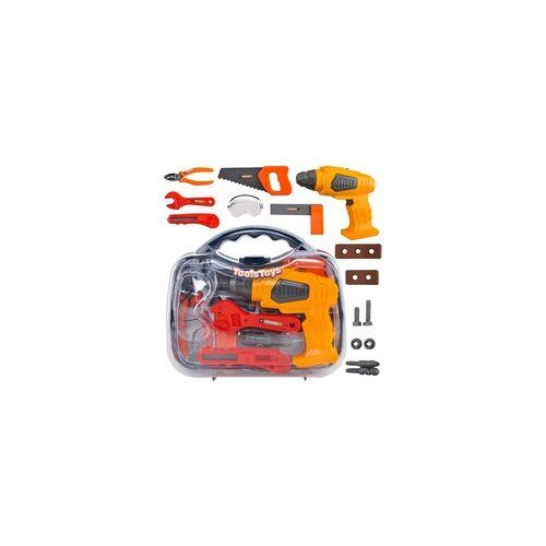 Malatec Werkzeugkoffer Kinder Spielzeug 13-tlg Rollenspiele Pädagogisches Lernen