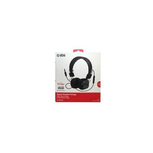 SBS Stereo Headset Vintage 26700 3,5mm Klinke Vintage Look Kopfhörer