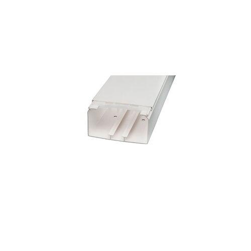 Licatec Installationskanal CK 110x60 PVC reinweiß - 2 m Kabelkanal