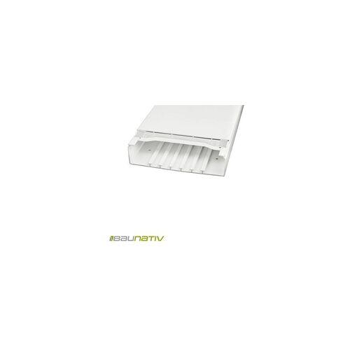 Licatec Installationskanal CK 230x60 PVC reinweiß - 2 m Kabelkanal