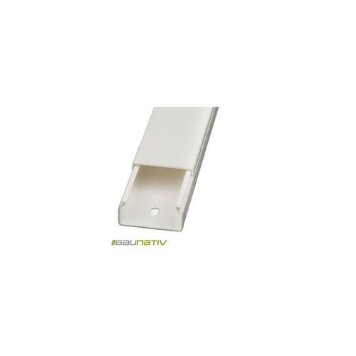 Licatec Installationskanal CK 30x15 PVC reinweiß - 2 m Kabelkanal