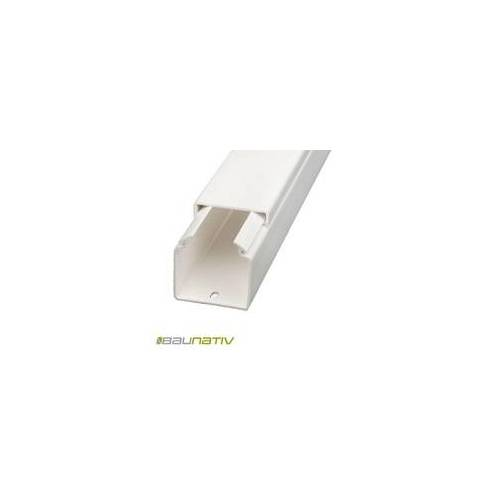 Licatec Installationskanal CK 40x40 PVC reinweiß - 2 m Kabelkanal