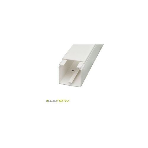 Licatec Installationskanal CK 60x60 PVC reinweiß - 2 m Kabelkanal